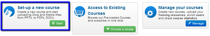 Let's create your E-Learning course