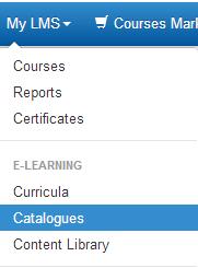 Create a course catalogue