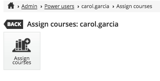power user assign courses
