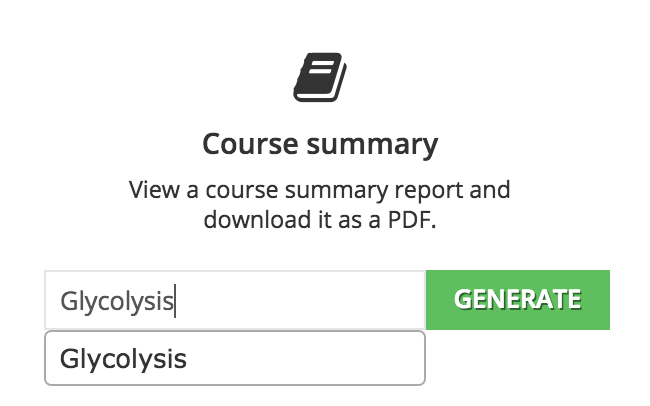 course summary generate
