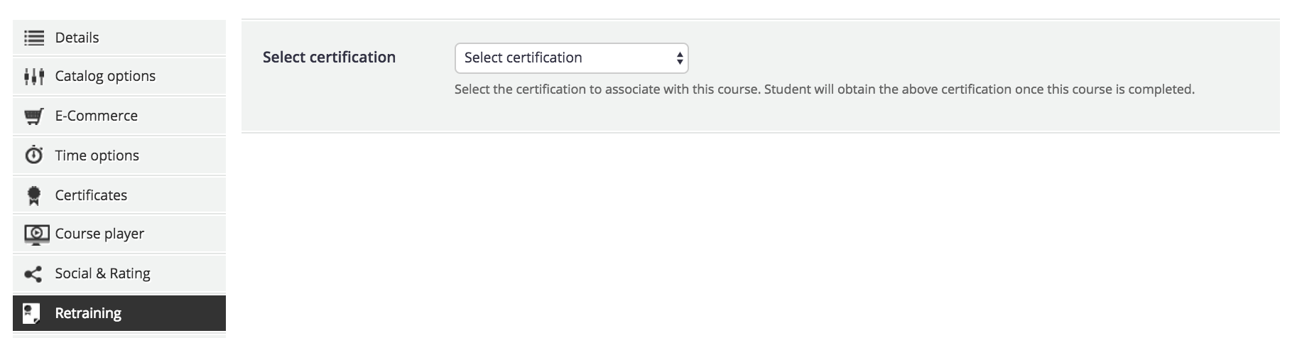 course advanced options retraining