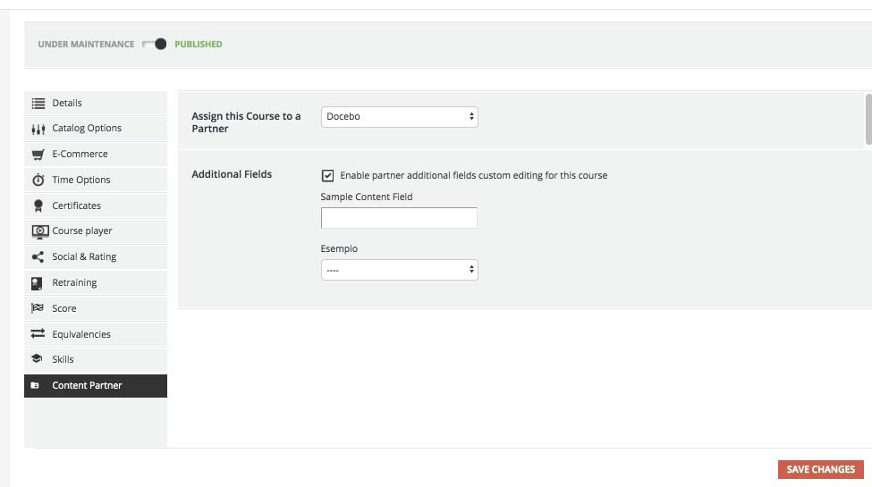 course settings content partner