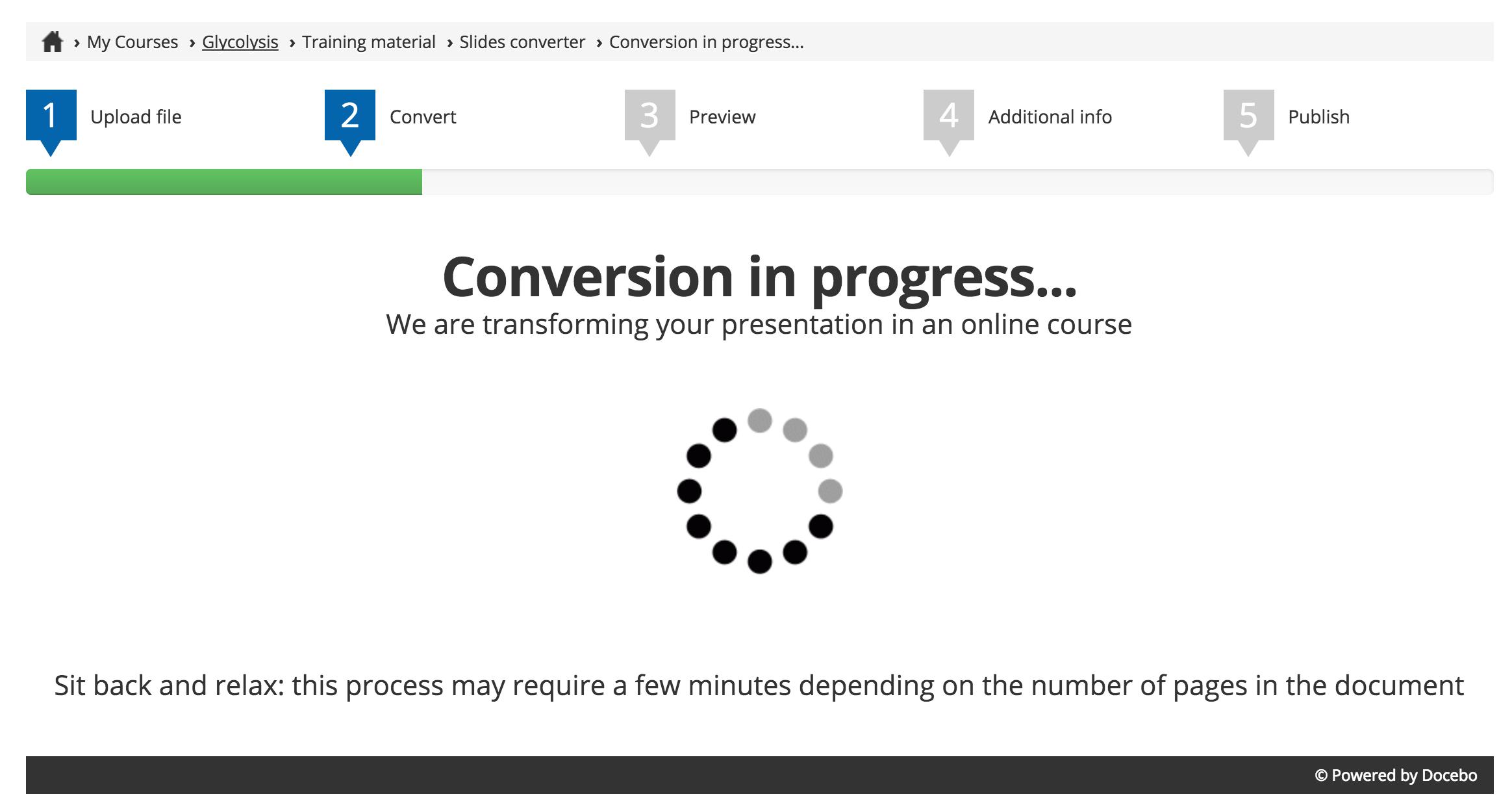 Slides Converter Conversion in Progress
