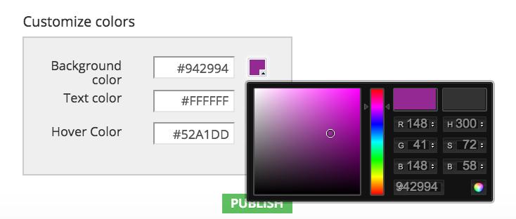 Slides converter color wheel bar