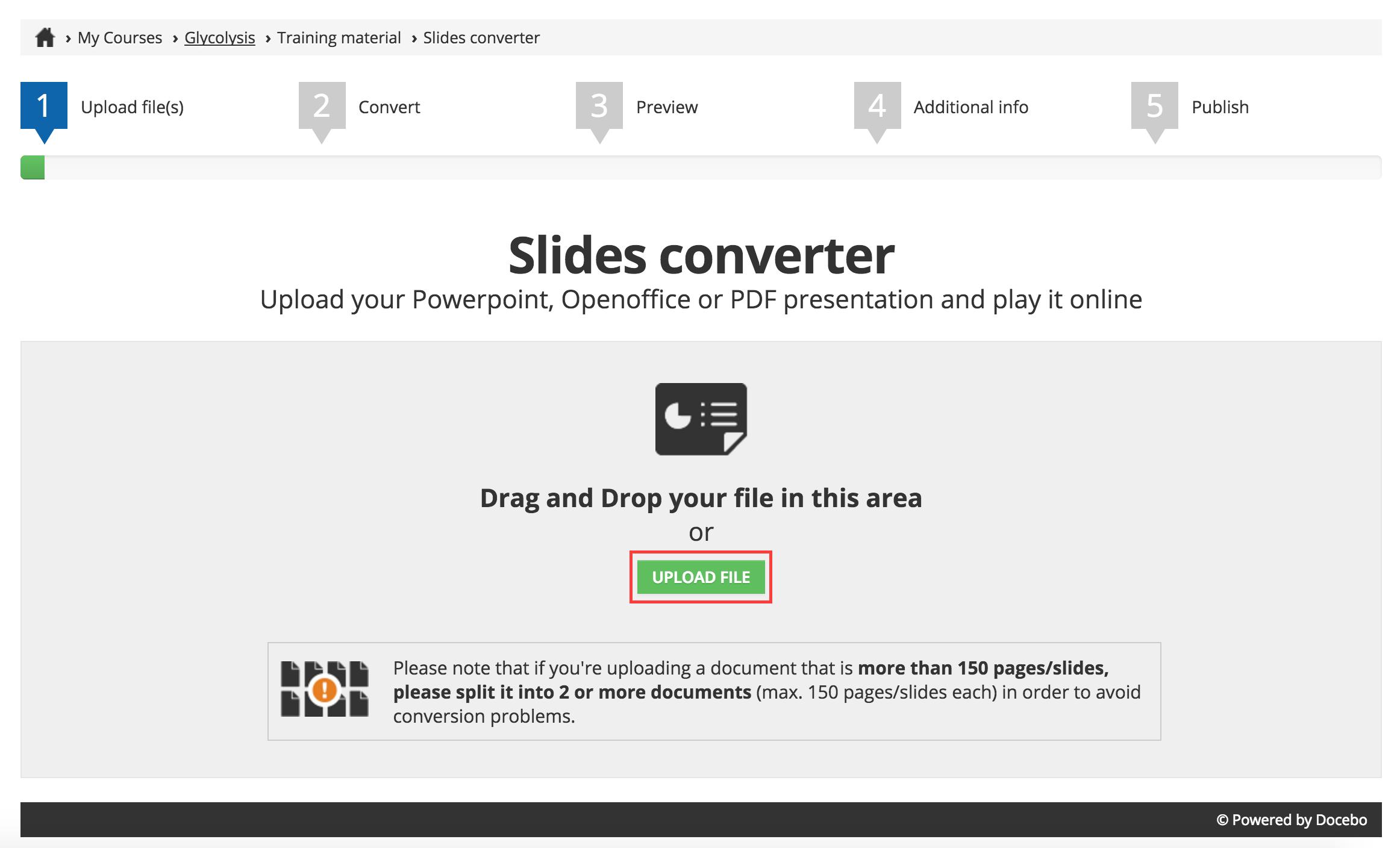 Slides Converter Upload File