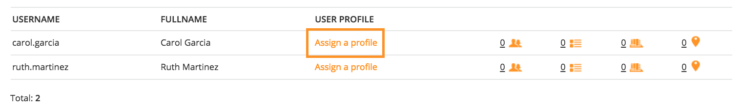 power user assign a profile