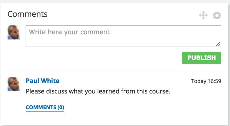 comments widget