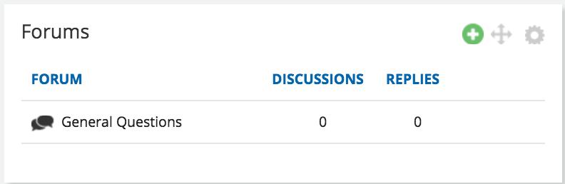 forum widget