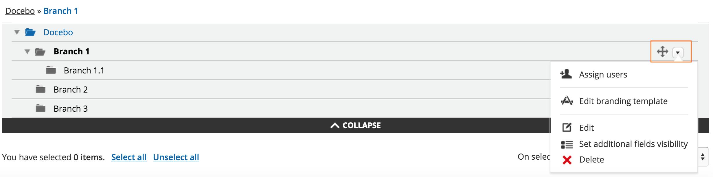 organize users Manage folder