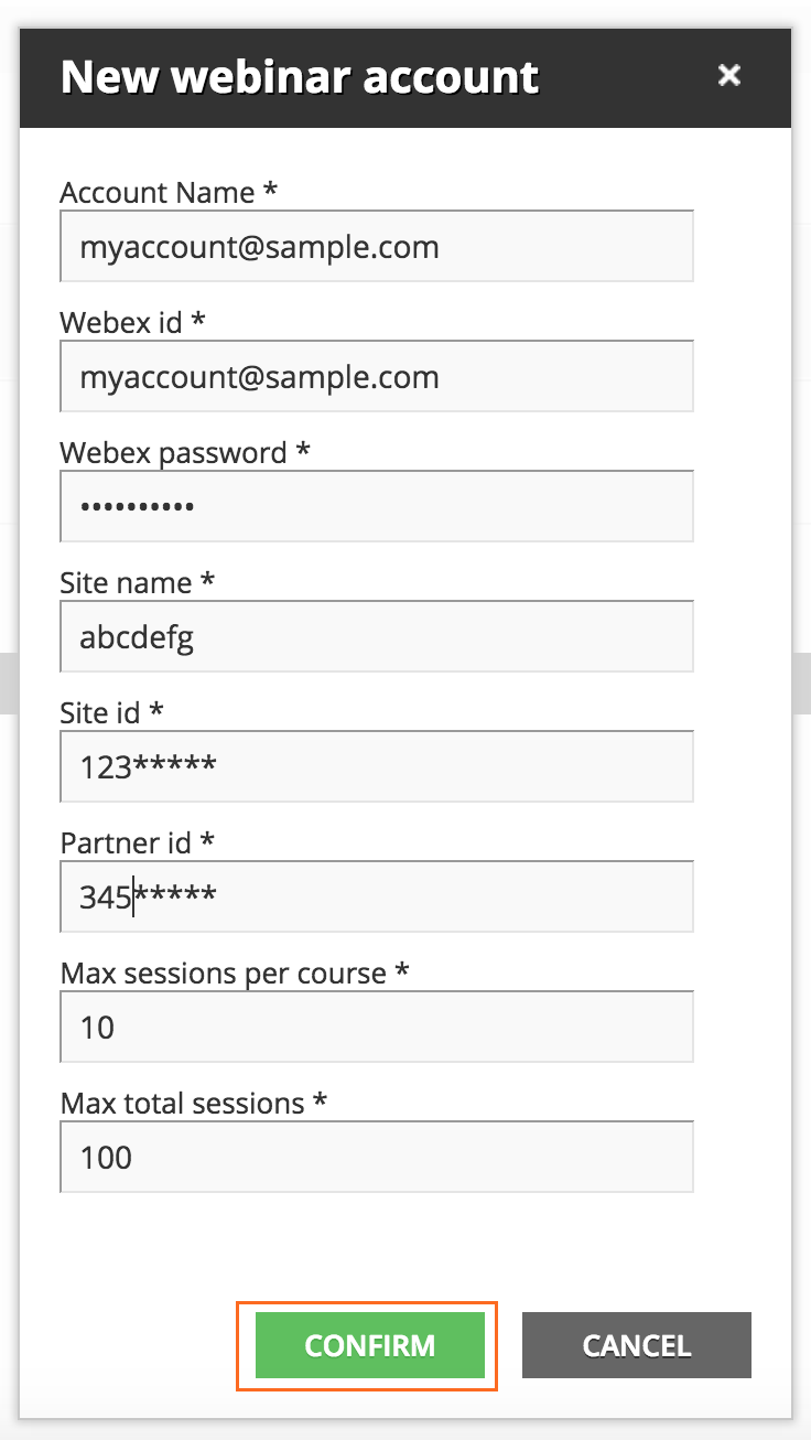 how to create new webex account