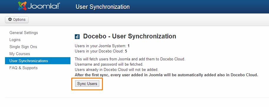 User Synchronizations