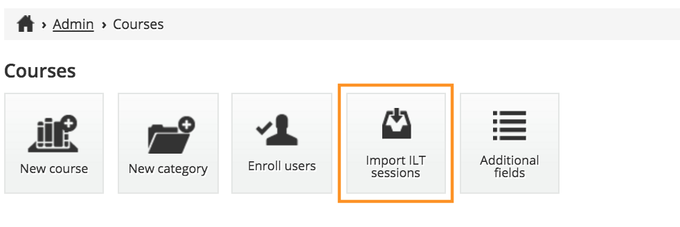 import ilt sessions