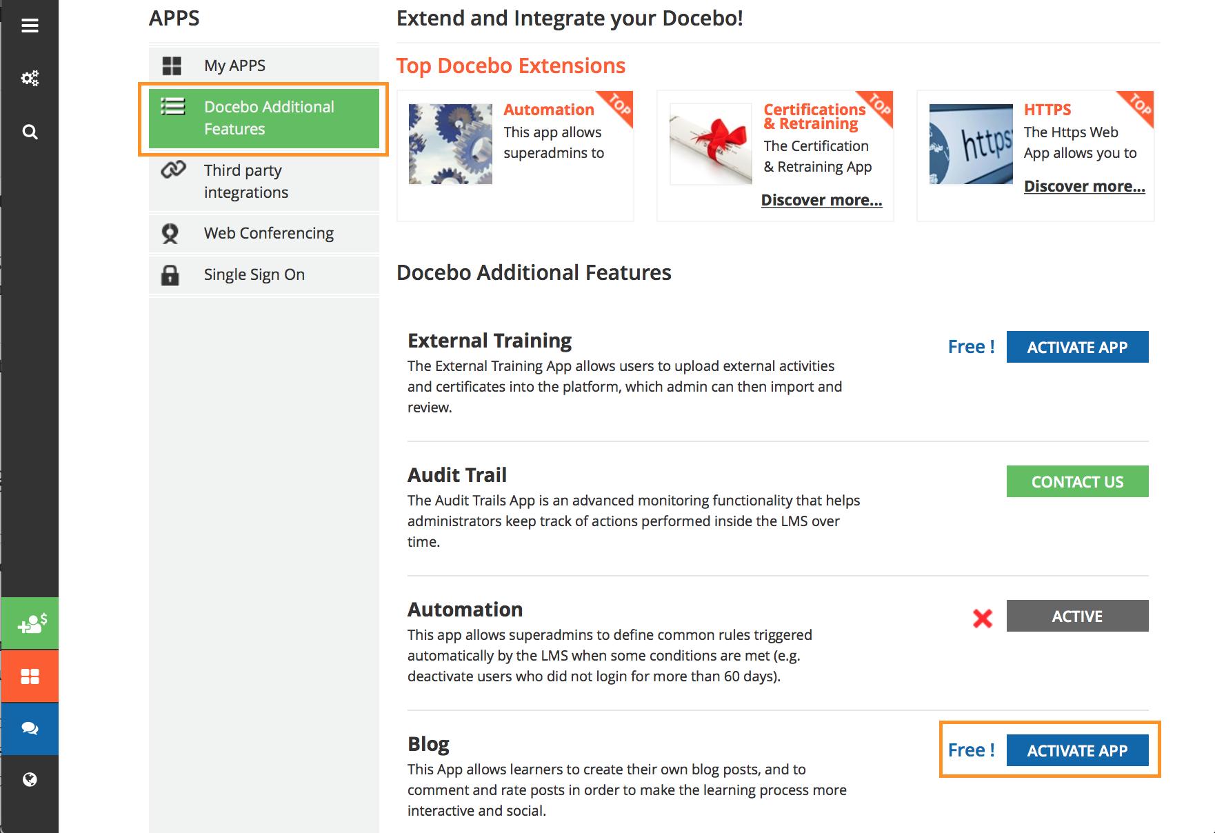 blog activate app