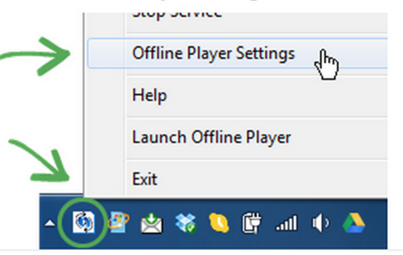 Offline player settings