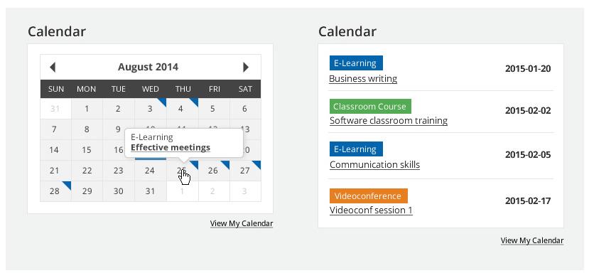 Calendar - final outcome