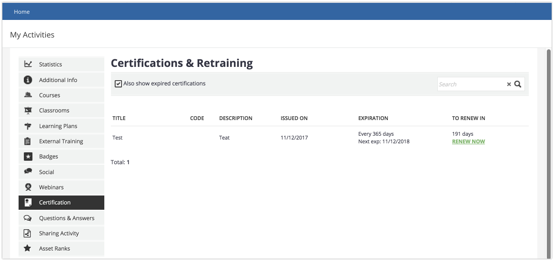 certifications learner