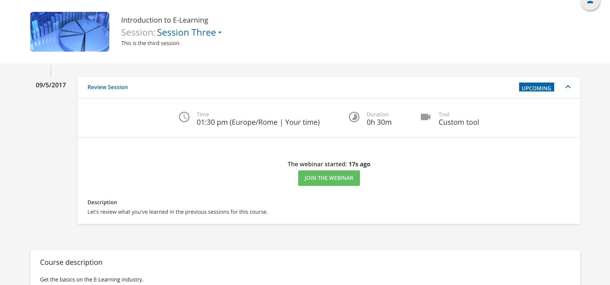 webinar learner view