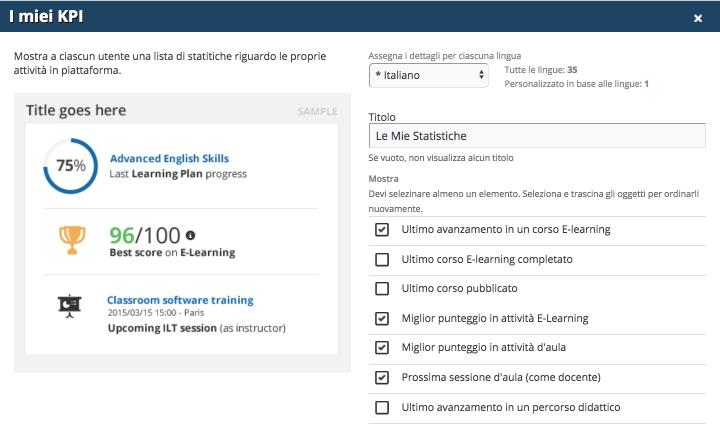 come creare dashboard personalizzate per gli utenti docebo