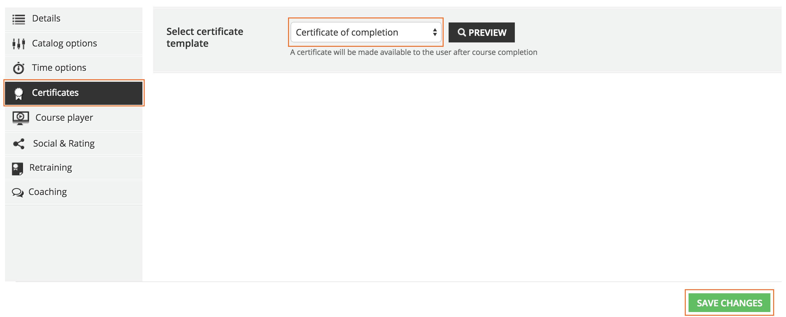 certificate Assign certificate