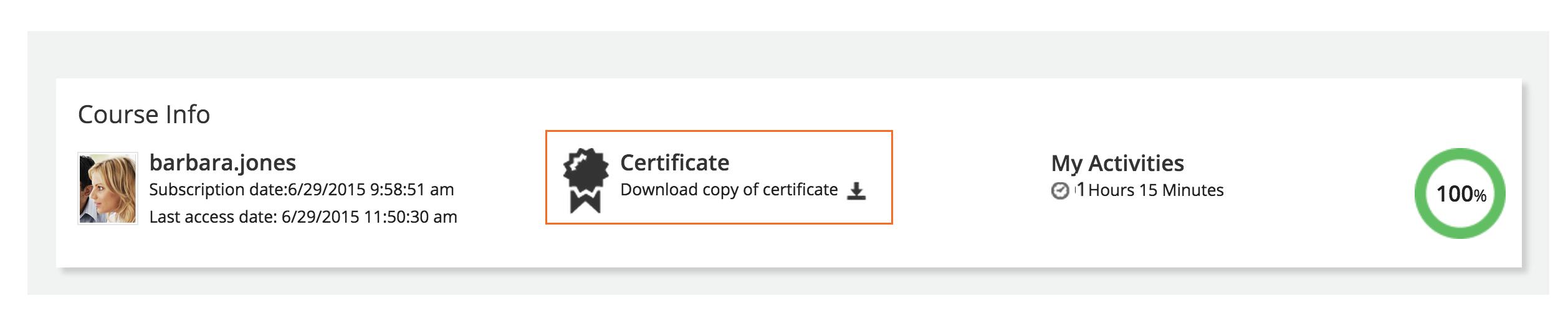 certificate Download certificate