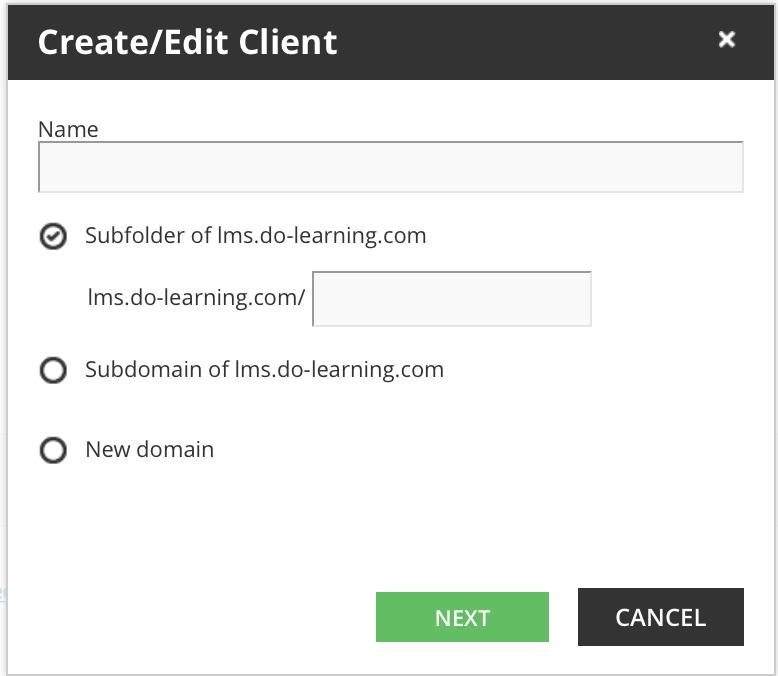 multidomain create client