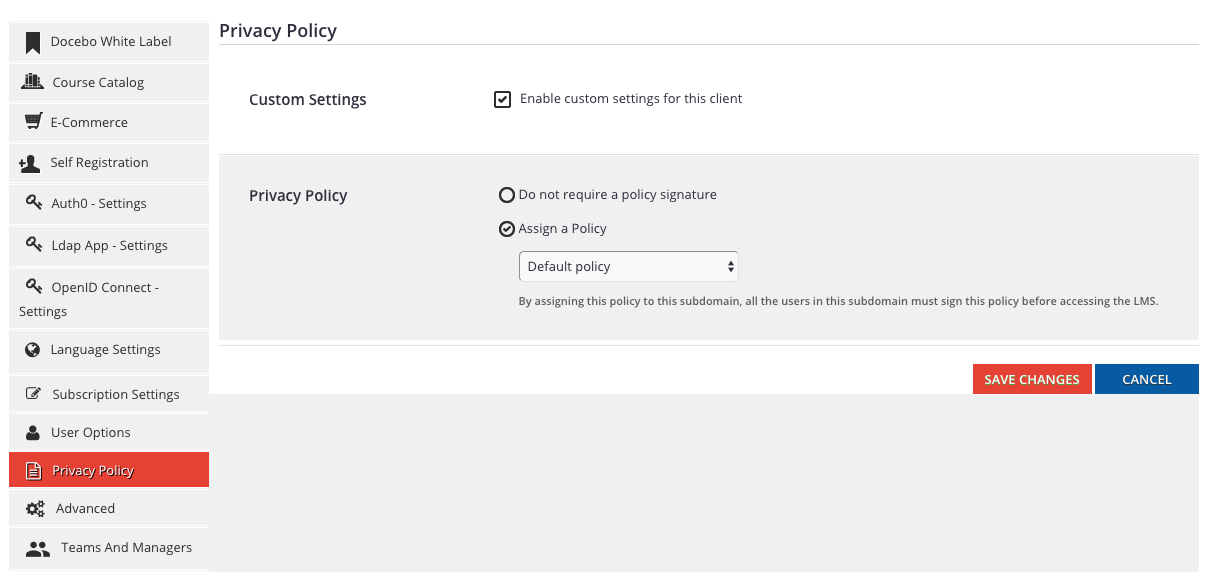multidomain privacy policy