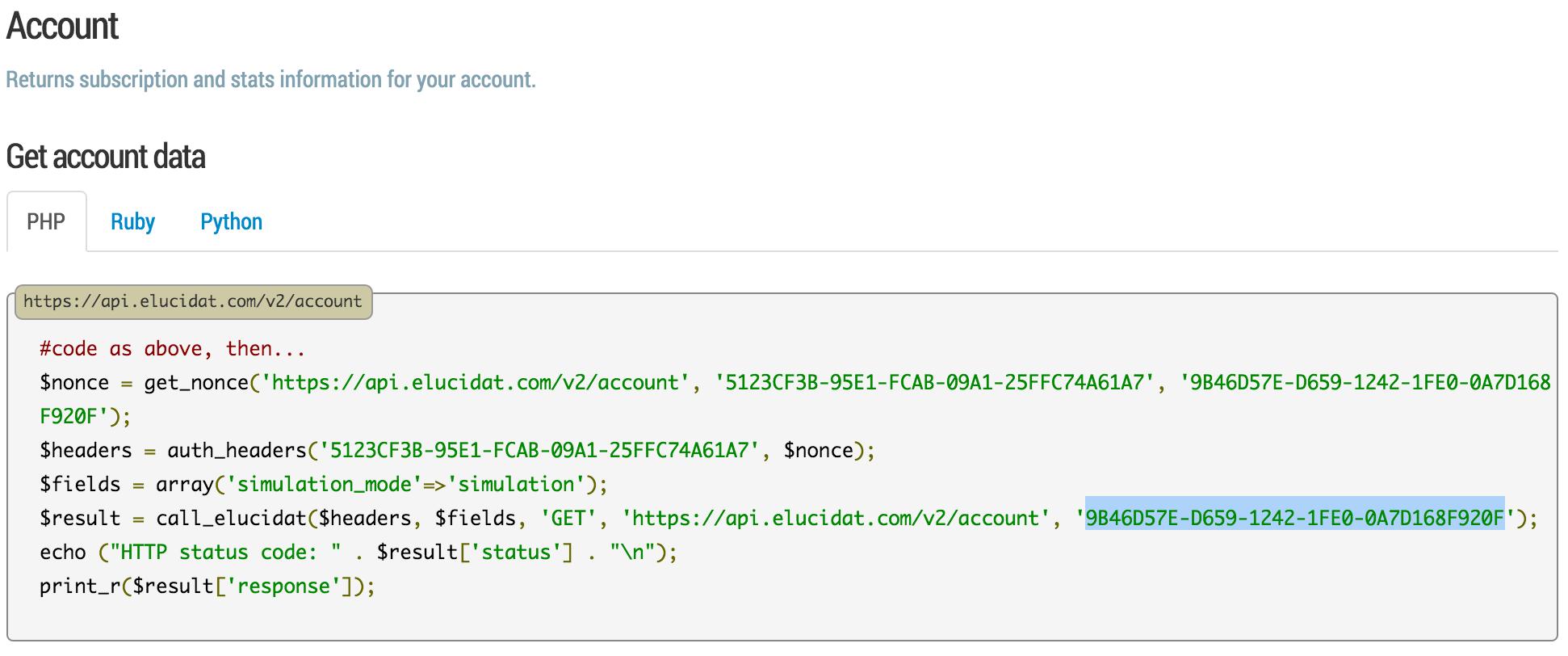 elucidat API Secret