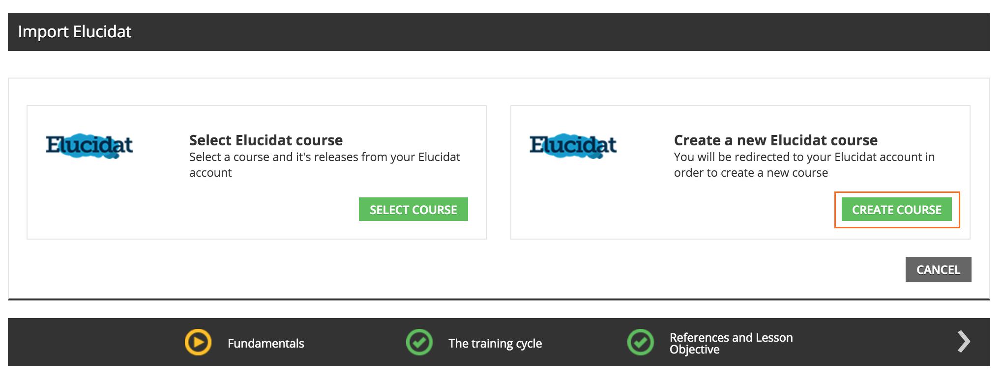 elucidat Create Elucidat course