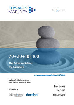 Whitepaper70+20+10=100: The Evidence Behind the numbers