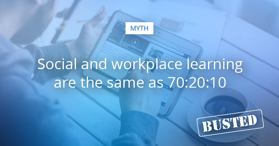 Informal and Workplace learning vs. 70 20 10 learning model