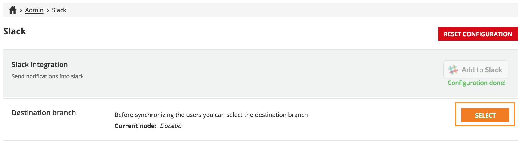 slack select branch