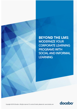 Beyond the LMS: Modernize your Corporate Learning Programs with Social and Informal Learning