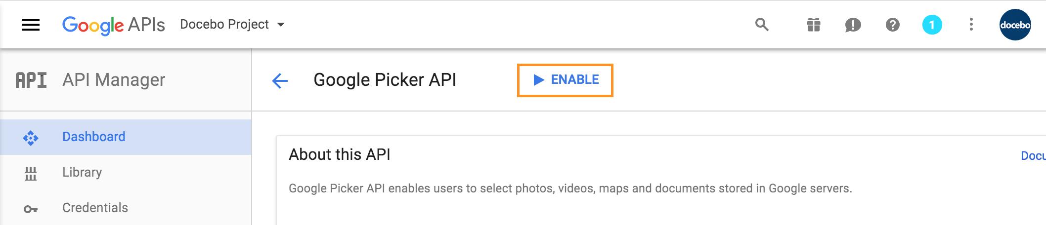 google drive enable