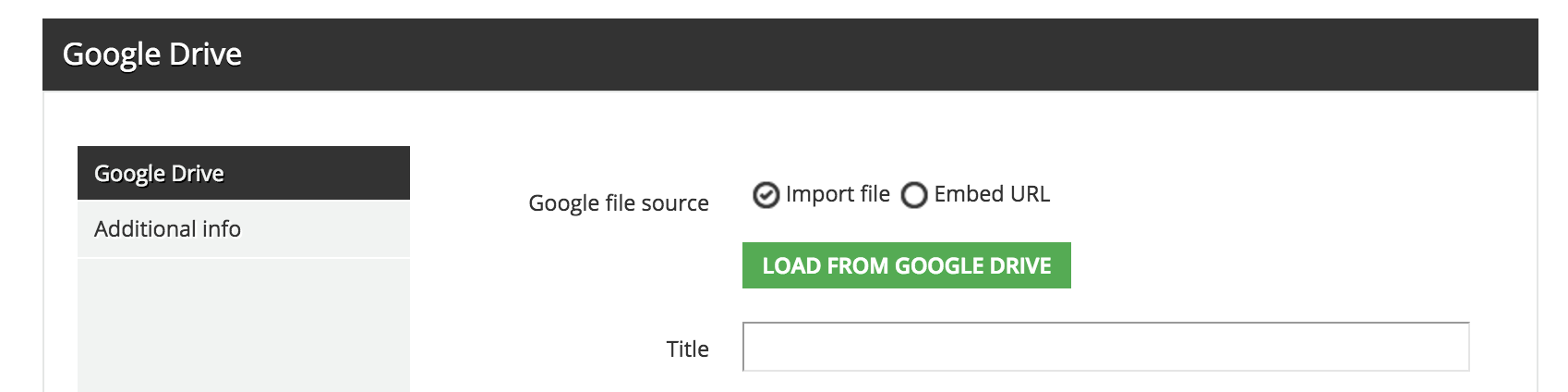 google drive load from drive