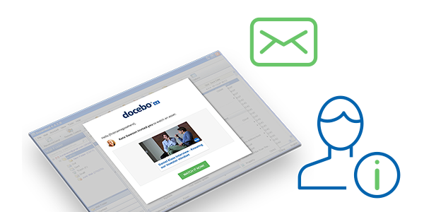 Fully customizable notifications, in your LMS or delivered to your inbox