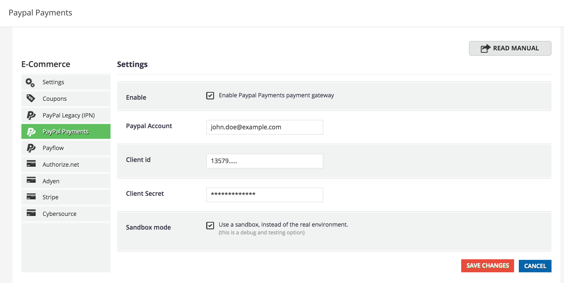 Configure PayPal Payment Gateway in Docebo E-Commerce App