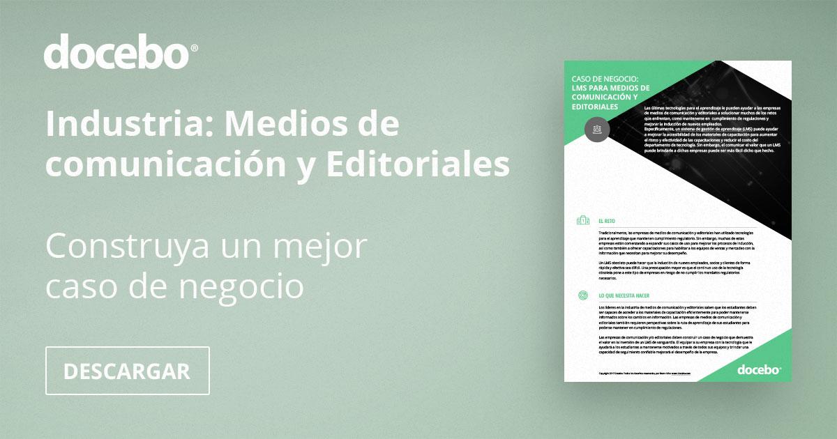 LMS, medios de comunicación, editoriales