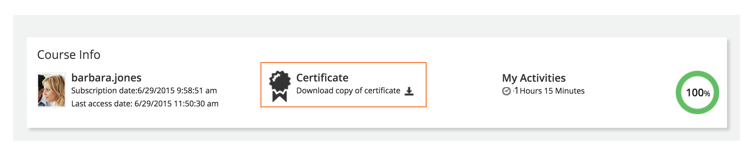 viewing and downloading course certificates as a learner in docebo