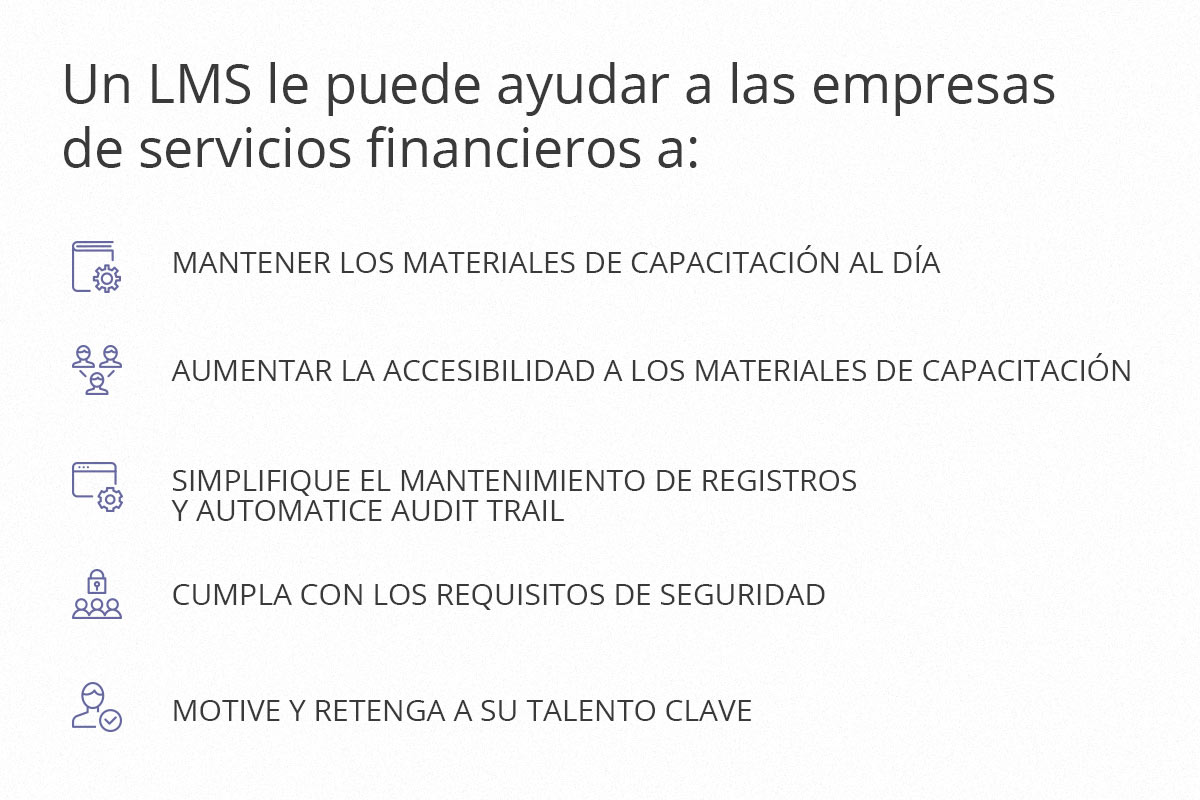 LMS para servicios financieros
