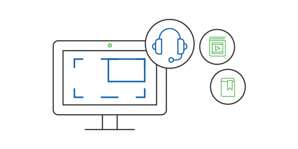 Record webinars, skype calls, demos and share it with appropriate users within your LMS