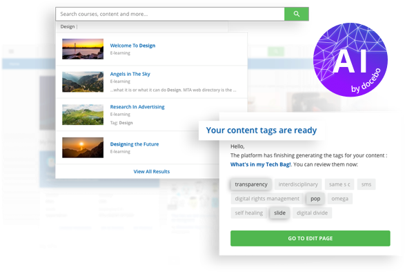Docebo Learn (LMS) - AI Makes Learning Content Easier to Find