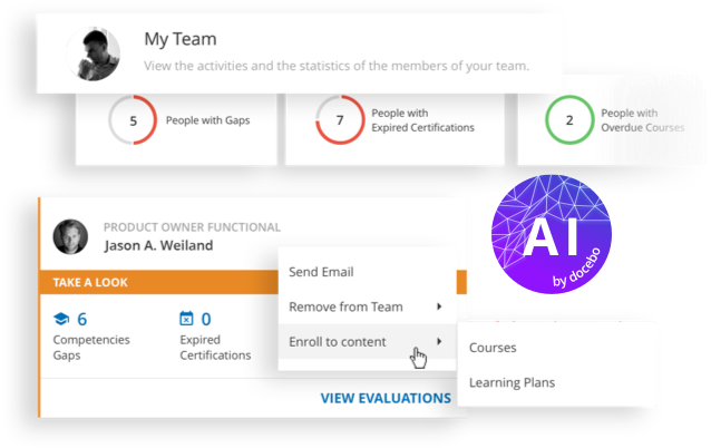 Riduci le attività di amministrazione della tua piattaforma eLearning: offri ai manager un accesso senza precedenti al tuo LMS