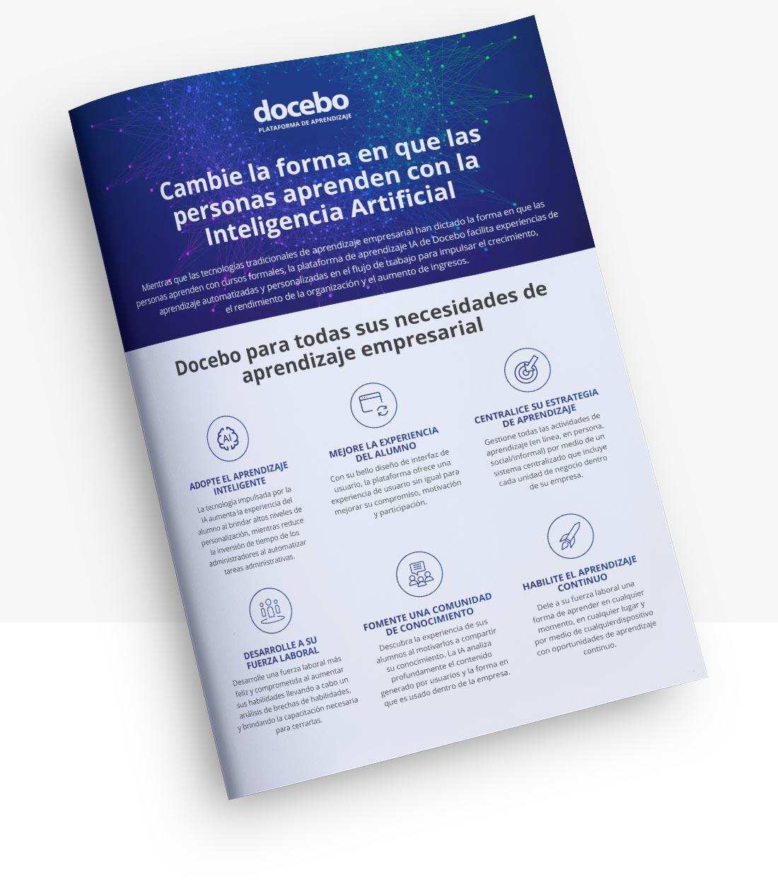 Docebo plataforma de aprendizaje en línea para la capacitación empresarial