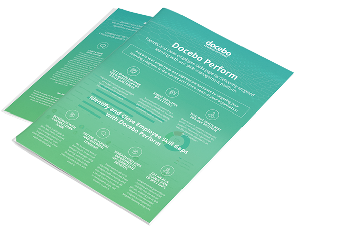 Docebo Perform prepares your employees to improve their performance through skill based experiential learning