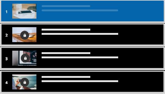 Cree y gestione listas de reproducción de contenido de aprendizaje ate