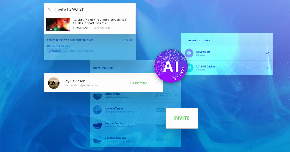 Invite-to-Watch extends the reach and the effectiveness of your social learning content by putting it in front of those who will value it most