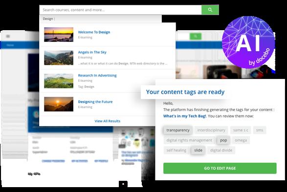 Docebo Learn (LMS) - L'IA rend le contenu learning plus facile à trouver