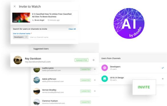IA met le contenu approprié devant les personnes concernées
