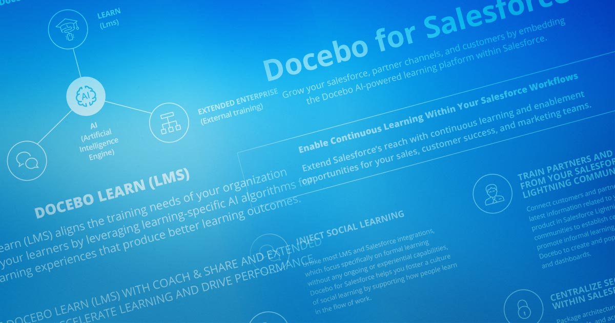 Docebo For Salesforce: AI-powered Learning Platform & Easy LMS Integration