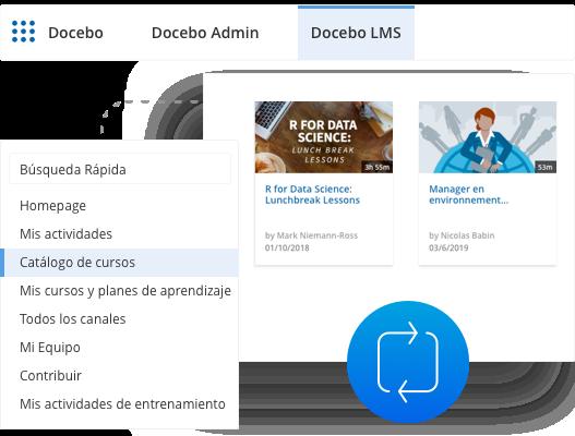 La experiencias de aprendizaje completa de Docebo - en Salesforce